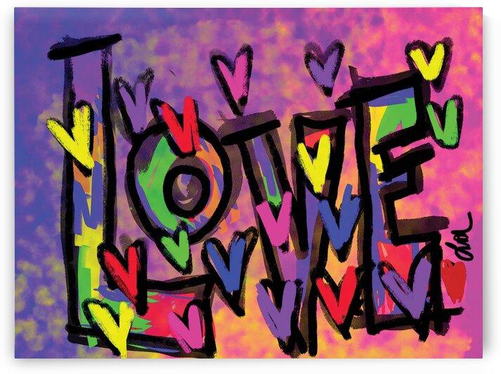 DIGITAL ILLUSTRATION - Love Hearts by Lisa Shavelson