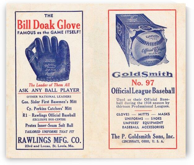 1939 Rawlings Bill Doak Glove Ad by Row One Brand