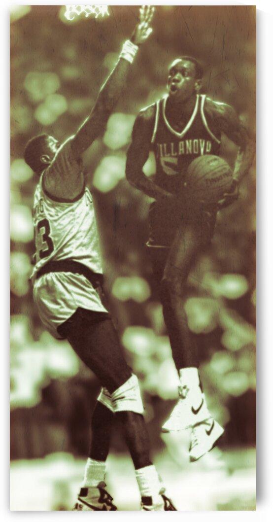 1985 Georgetown vs. Villanova Basketball Art by Row One Brand
