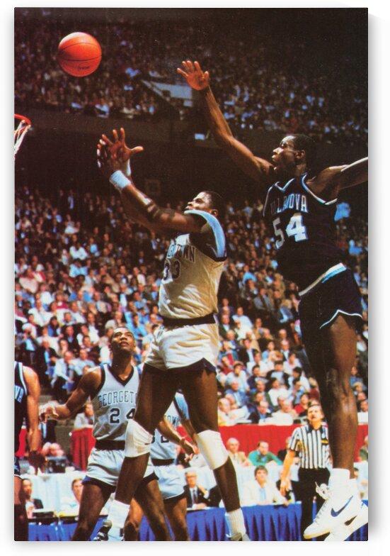 1985 Georgetown vs. Villanova Basketball Poster by Row One Brand
