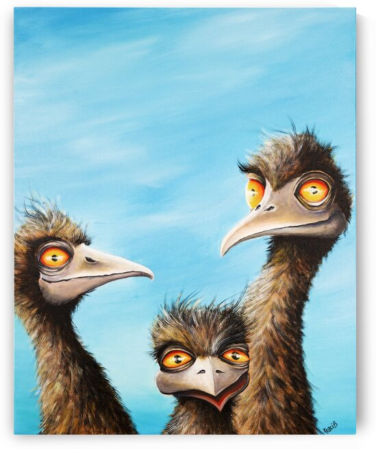 Emus 3 by Tracey Bayer
