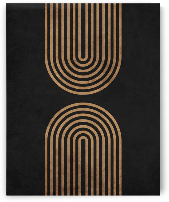 Perfect Equilibrium in Black 1 - Minimal Geometric Abstract by Cosmic Soup