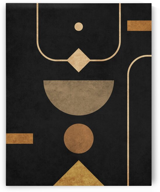Subtle Opulence - Contemporary Minimalist Abstract in Black 2 by Cosmic Soup