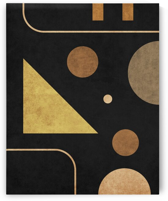 Subtle Opulence - Contemporary Minimalist Abstract in Black 3 by Cosmic Soup