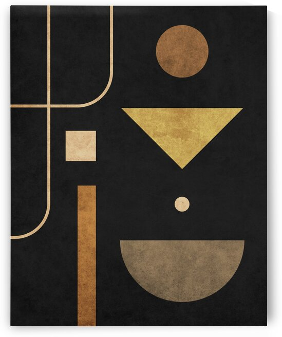 Subtle Opulence - Contemporary Minimalist Abstract in Black 1 by Cosmic Soup