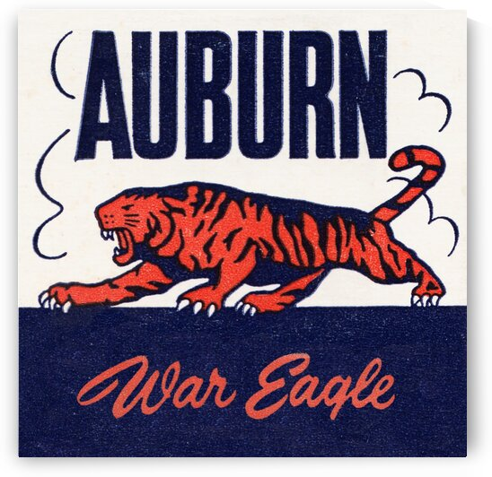 1950s Vintage Auburn Metal Sign by Row One Brand