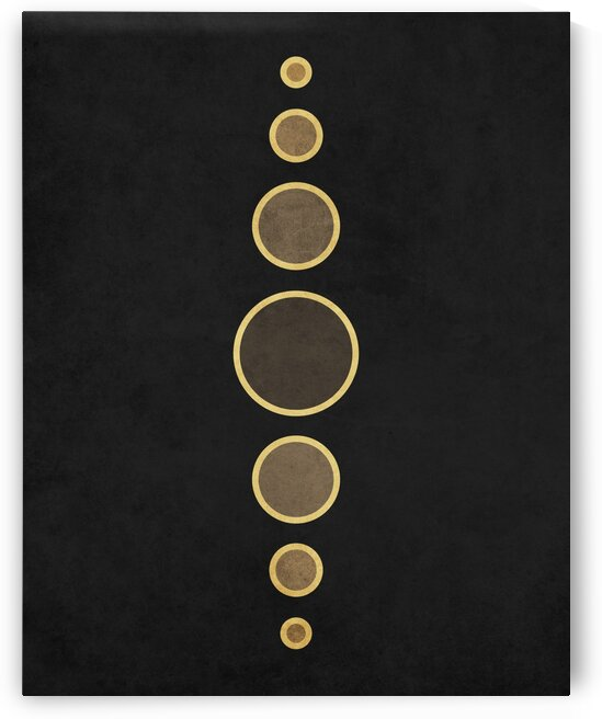 String Of Pearls 1 - Minimal Geometric Abstract in Black by Cosmic Soup
