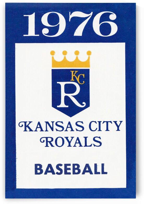 1976 Kansas City Royals Baseball Art by Row One Brand