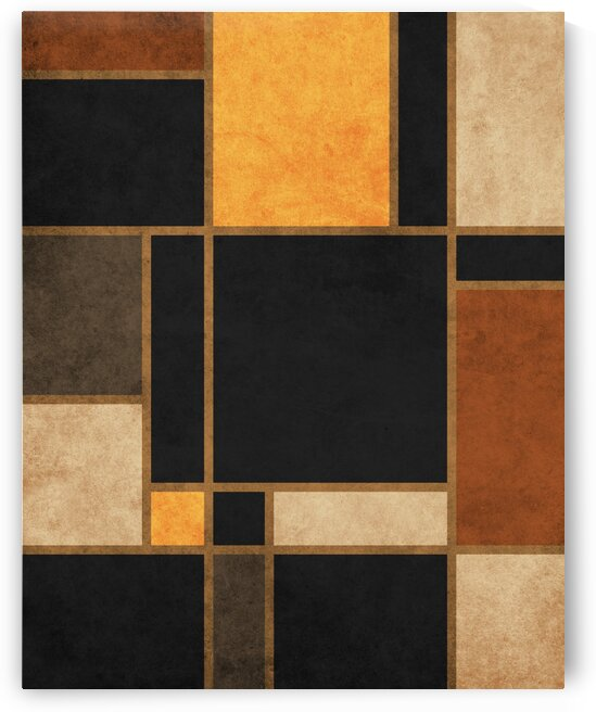 Geometrie a la Mondrian - Modernist Geometric Abstract 2 by Cosmic Soup
