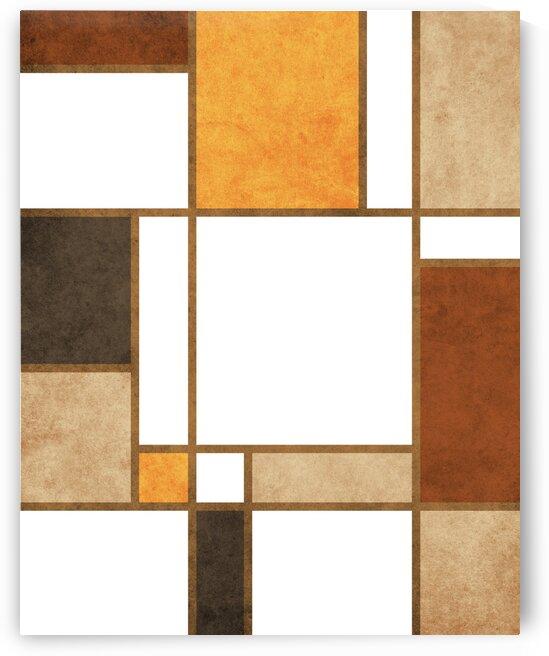 Geometrie a la Mondrian - Modernist Geometric Abstract 5 by Cosmic Soup