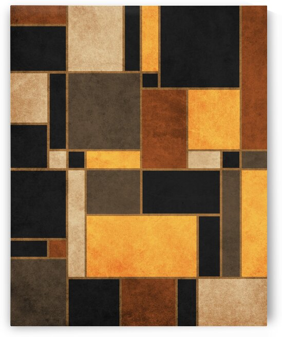 Mondrian Composition Black - Abstract Expressionism 2 by Cosmic Soup