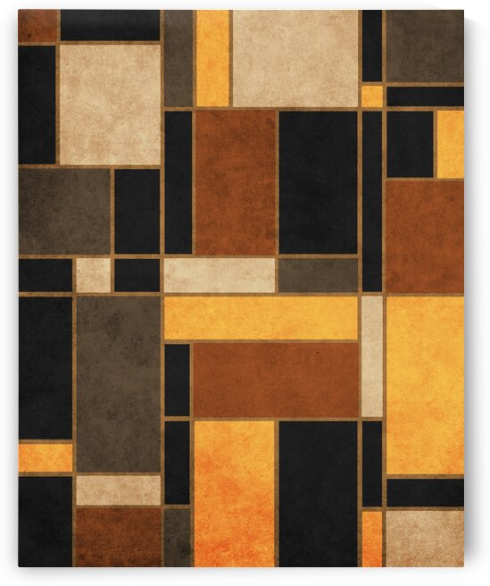 Mondrian Composition Black - Abstract Expressionism 1 by Cosmic Soup