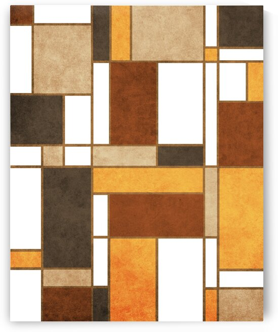 Mondrian Composition - White - Abstract Expressionism 1 by Cosmic Soup