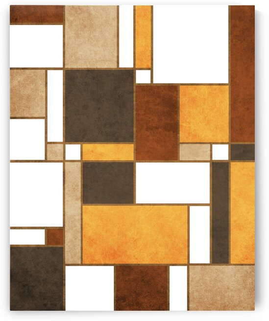 Mondrian Composition - White - Abstract Expressionism 2 by Cosmic Soup