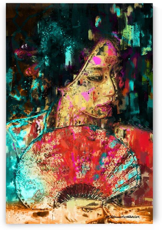 Geisha Fan   by Edmond Garnier