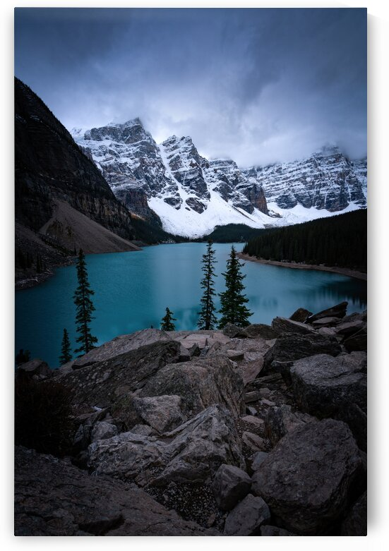 Stormy Moraine Lake Blues by Trevor Klatko