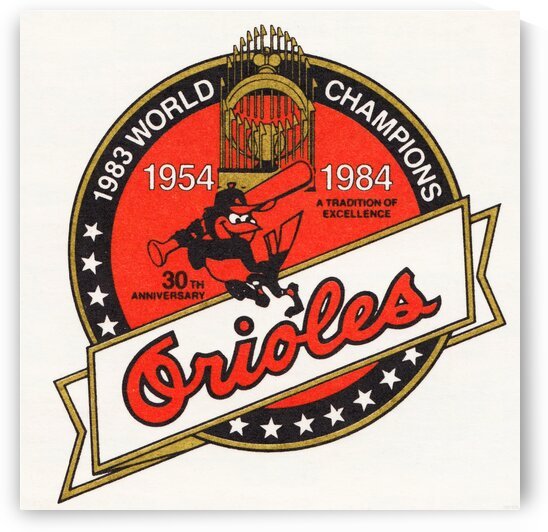 1983 Baltimore Orioles World Champions Art by Row One Brand