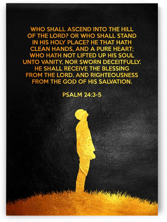 Psalm 24:3-5 Bible Verse Wall Art by ABConcepts