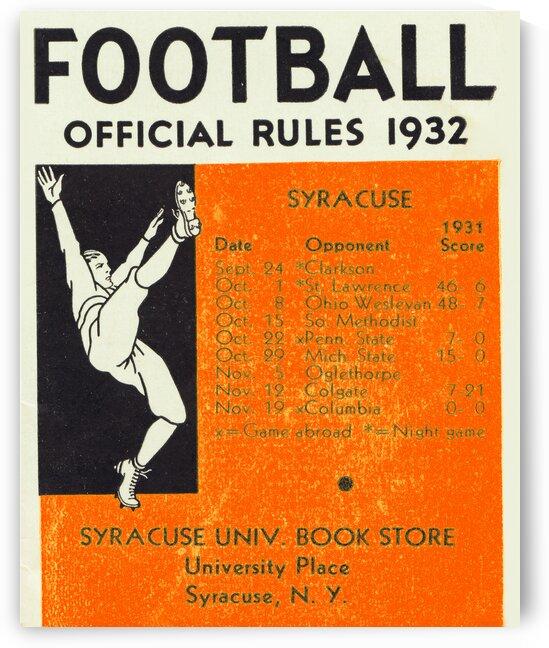 1932 Syracuse Football Art by Row One Brand