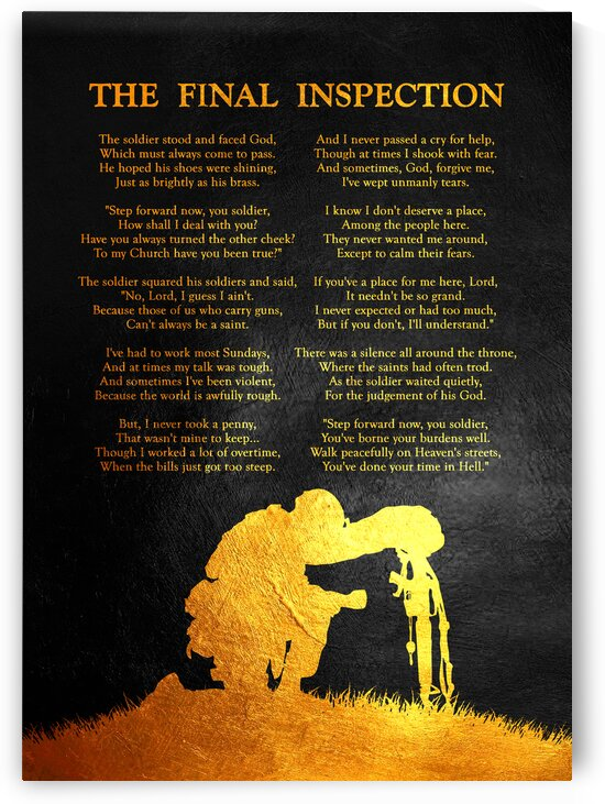 The Final Inspection Motivational Wall Art by ABConcepts