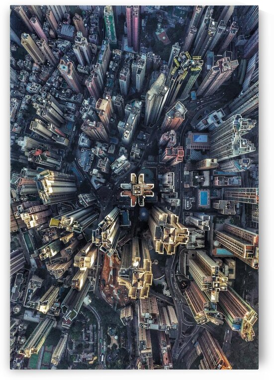 Aerial view city by Golden Art Avenue
