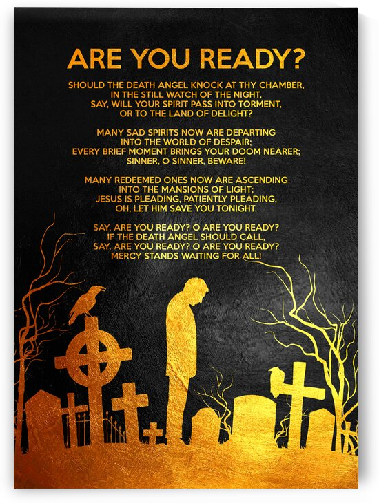 Death Poem Motivational Wall Art by ABConcepts
