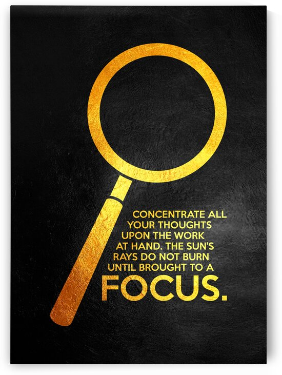Focus Motivational Wall Art by ABConcepts