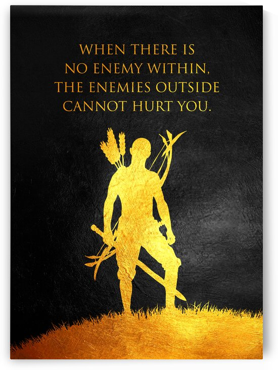 When there is no enemy within the enemies outside cannot hurt you. Motivational Wall Art by ABConcepts