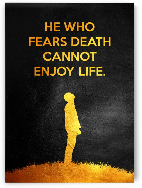 He who fears death cannot enjoy life. Motivational Wall Art by ABConcepts