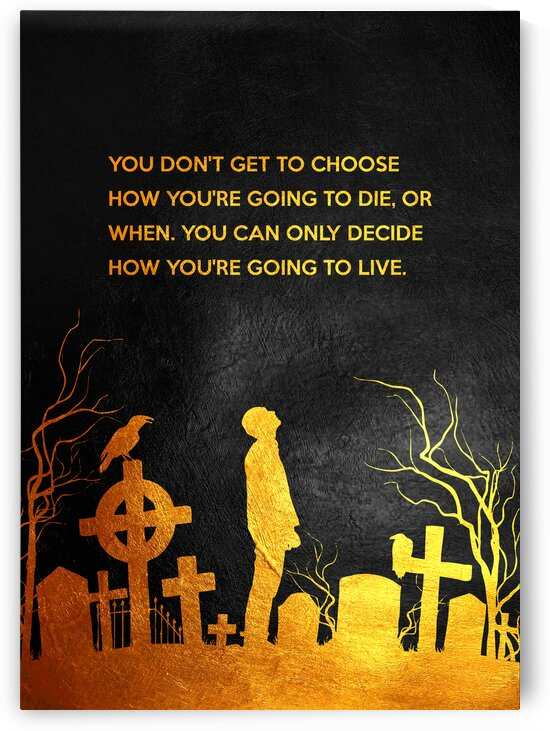 Decide How  To Live Motivational Wall Art by ABConcepts