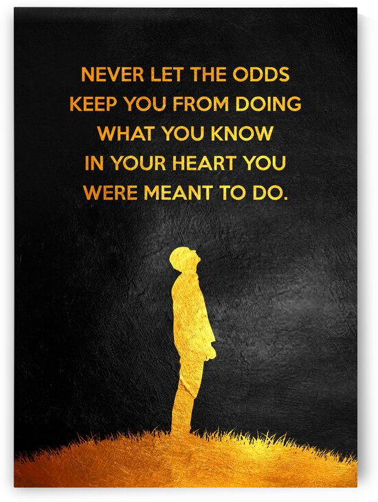 Defy the Odds Motivational Wall Art by ABConcepts