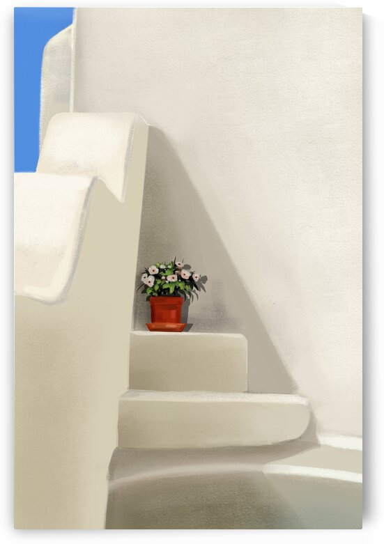 A Happy Nook - Santorini - Greece by Cosmic Soup