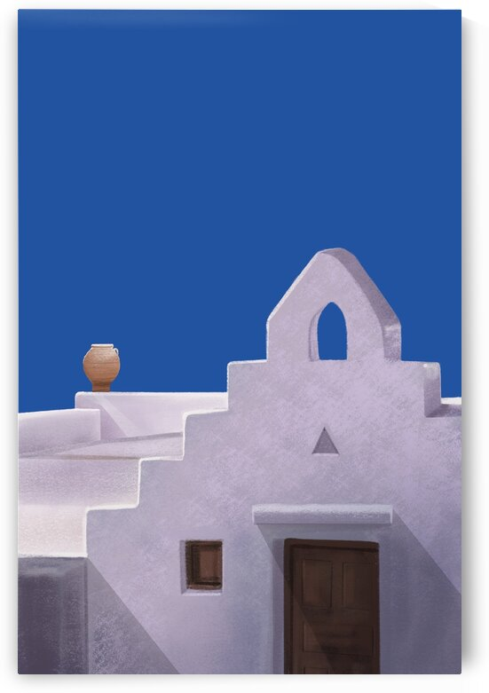 A Play of Shapes - Santorini - Greece by Cosmic Soup