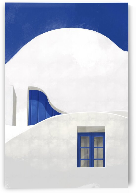 Little Blue Window - Santorini  Greece by Cosmic Soup