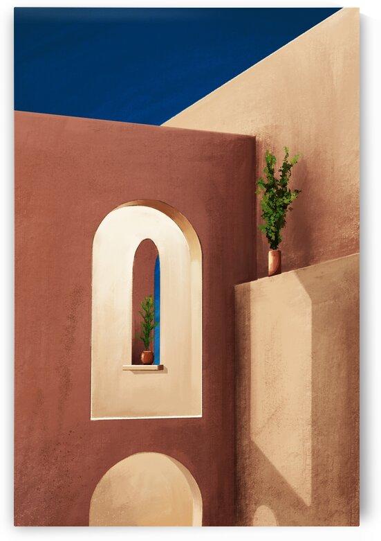 Earthen Walls - Santorini - Greece by Cosmic Soup