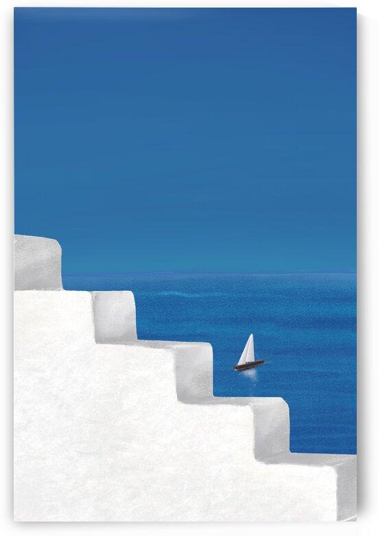 Sail Away - Santorini  Greece by Cosmic Soup