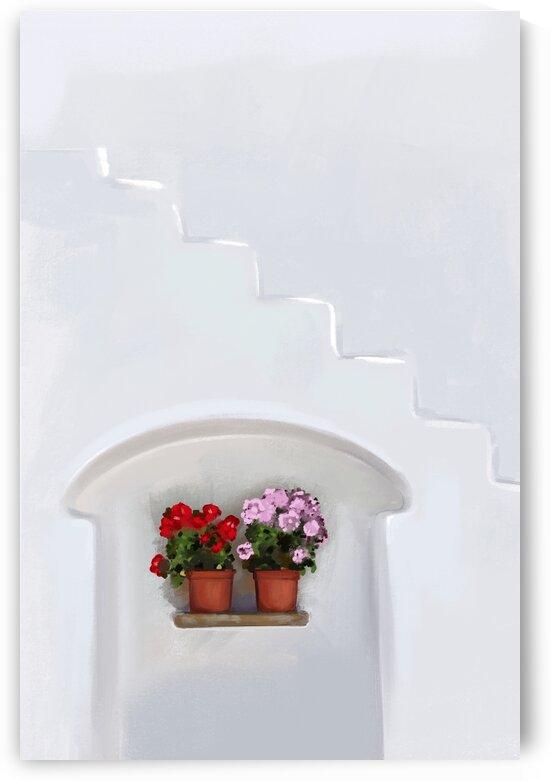 One Sweet Alcove - Santorini - Greece by Cosmic Soup