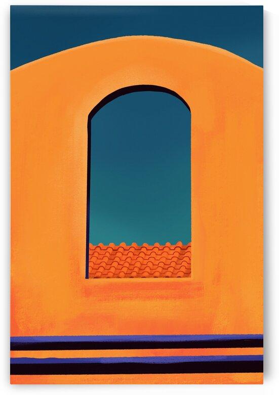 Rooftop Arch Window - Santorini - Greece by Cosmic Soup