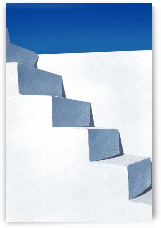 Whitewashed Steps - Santorini  Greece by Cosmic Soup