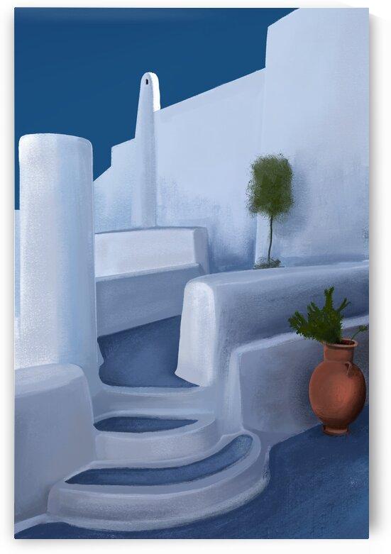 The Greek Lounge - Santorini - Greece by Cosmic Soup