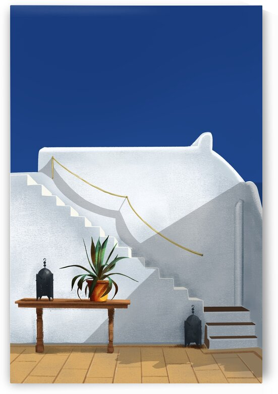 The Terrace - Santorini  Greece by Cosmic Soup