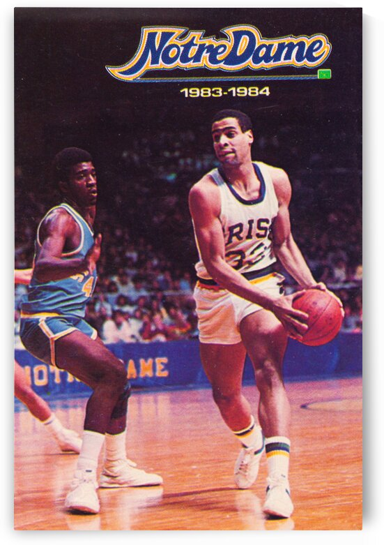 1983 Notre Dame Retro Basketball Poster by Row One Brand