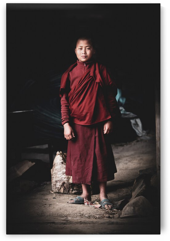Young Bhutanese Monk by Julie Anne Davies