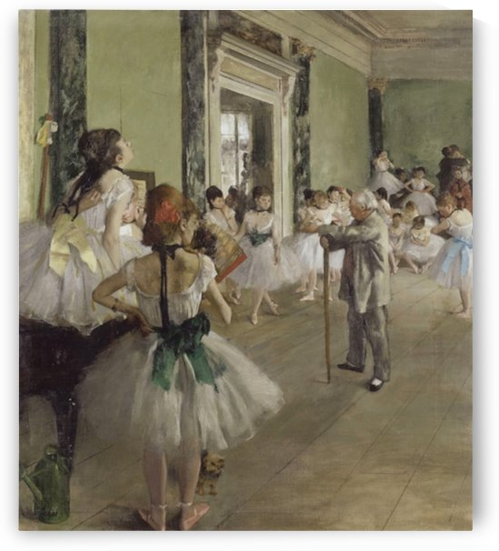 The Ballet Class by Degas by Degas