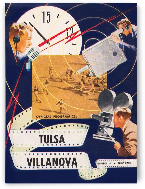1949 Villanova vs. Tulsa Football Program Cover Art by Row One Brand