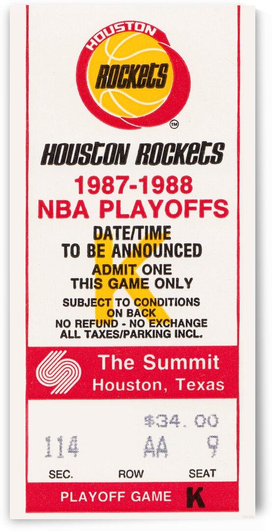1987 Houston Rockets Basketball Ticket Art by Row One Brand
