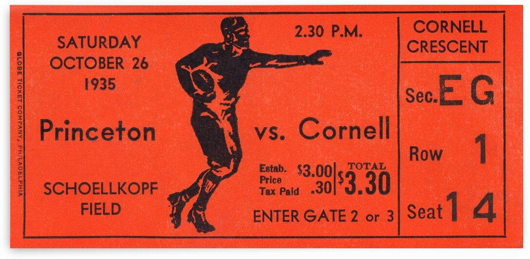 1935 Princeton vs. Cornell Football Ticket Print by Row One Brand