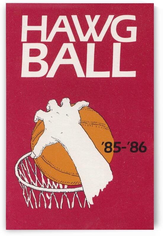 1985 Arkansas Razorbacks Hawg Ball Poster by Row One Brand