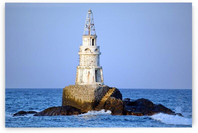Seaside Lighthouse Bulgaria by Kikkia Jackson