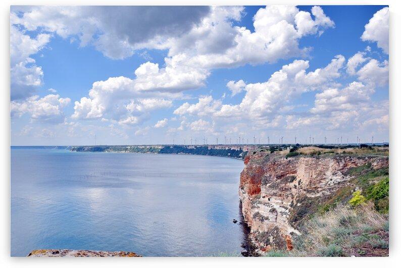 Colorful Seascape with Cliffs by Kikkia Jackson
